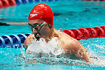 24 MAR 2012:   Rory Buck of Whitworth swims the men's 200 yard breaststroke during the Division III Mens and Womens Swimming and Diving Championship held at the IU Natatorium in Indianapolis, IN. Buck won with record setting time of 1:58.09. Michael Hickey/NCAA Photos