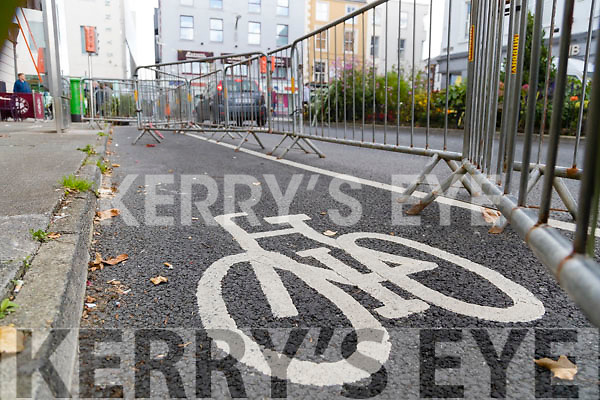 Cycle Lane Blocked off in Denny Street