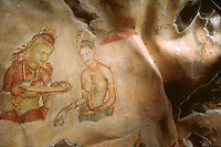 One of the frescoes in the Sigiriya complex near Dambulla, Sri Lanka. (1996)
