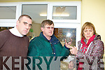 Jimmy Darcy, Mike and Mary Lyne inspect the broken window in Killarney Celtic clubhouse which was attacked by vandals Monday evening