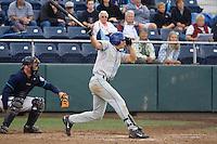 August 7, 2007: Tri-City Dust Devils' outfielder Brian Rike takes a swing during a Northwest League game against the Everett AquaSox at Everett Memorial Stadium in Everett, Washington.