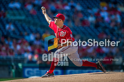 19 September 2015: Washington Nationals starting pitcher Jordan Zimmermann on the mound against the Miami Marlins at Nationals Park in Washington, DC. The Nationals defeated the Marlins 5-2 in the third game of their 4-game series. Mandatory Credit: Ed Wolfstein Photo *** RAW (NEF) Image File Available ***