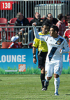 30 March 2013: Los Angeles Galaxy midfielder Jose Villarreal #33 celebrates after scoring a goal during an MLS game between the LA Galaxy and Toronto FC at BMO Field in Toronto, Ontario Canada..The game ended in a 2-2 draw..