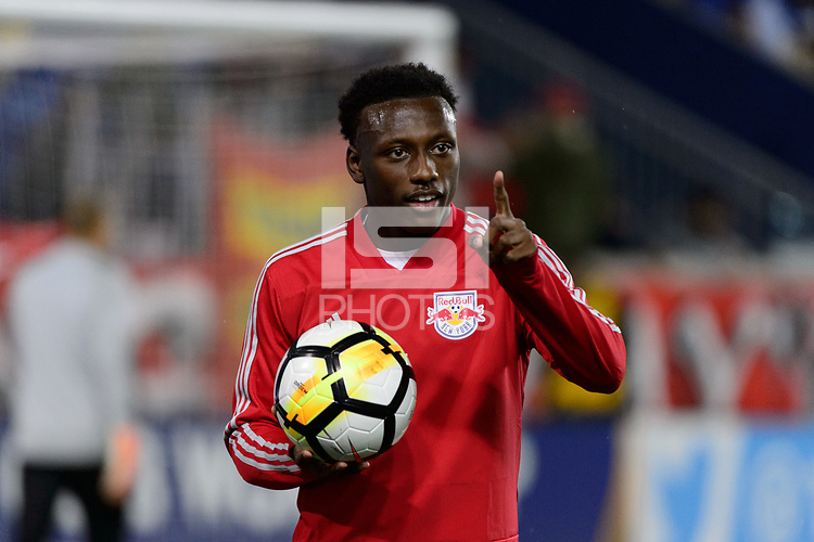 Harrison, NJ - Thursday March 01, 2018: Derrick Etienne Jr.. The New York Red Bulls defeated C.D. Olimpia 2-0 (3-1 on aggregate) during a 2018 CONCACAF Champions League Round of 16 match at Red Bull Arena.