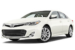 Low aggressive front three quarter view of a 2013 Toyota Avalon XLE