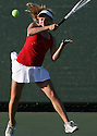 Fallbrook's Monica Robinson makes a return during a 2009 playoff match.  photo for North County Times