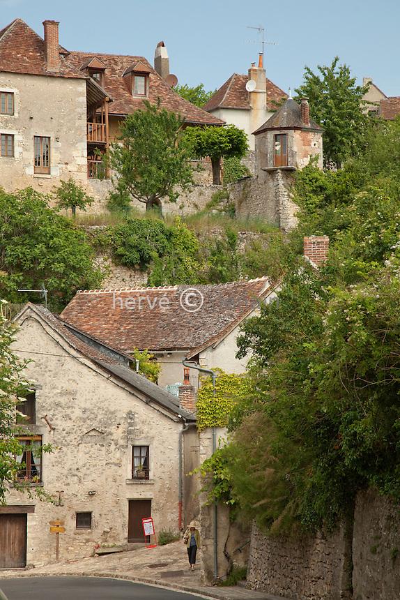 France, Vienne (86), Angles-sur-l'Anglin, labellisé Les Plus Beaux Villages de.France // France, Vienne, Angles-sur-l'Anglin, labelled Les Plus Beaux Villages de France (The most beautiful villages of France)