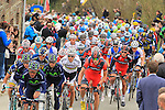 Action from the 2013 Liege-Bastogne-Liege race. 21st April 2013.<br />