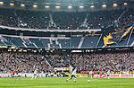 Solna 2015-03-07 Fotboll Allsvenskan AIK - Hammarby IF :  <br /> Vy &ouml;ver Friends Arena med publik p&aring; l&auml;ktaren , och med Etage 2 utan publik , under matchen mellan AIK och Hammarby IF <br /> (Foto: Kenta J&ouml;nsson) Nyckelord:  AIK Gnaget Friends Arena Svenska Cupen Cup Derby Hammarby HIF Bajen inomhus interi&ouml;r interior supporter fans publik supporters