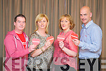 Jim McNeice, Kathleen Daly, Noreen Ashe and Martin O'Sullivan at the 25th Anniversary of the Happy Hearts Appeal in the Fels Point Hotel on Tuesday