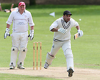 M Aslam of Harold Wood in batting action and Hornchurch wicket keeper Paul Murray   - Harold Wood Cricket Club vs Hornchurch Cricket Club at Harold Wood 10/05/09 - MANDATORY CREDIT: Rob Newell/TGSPHOTO - IMAGES USED WILL BE INVOICED AT STANDARD RATES. Gavin Ellis/TGSPHOTO, 27 Plaiters Way, Braintree, Essex CM7 3LR - Tel: 0845 0946026 - BACS details for payment: Gavin Ellis - A/C 31840312 Sort Code 40-17-08. NO UNPAID USE..