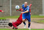 St Johnstone v Aberdeen...21.08.10  .Sam Parkin and Jerel Ifil.Picture by Graeme Hart..Copyright Perthshire Picture Agency.Tel: 01738 623350  Mobile: 07990 594431