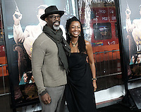 Isaiah Washington + wife Jenisa @ the premiere of 'Live By Night' held @ the Chinese theatre. January 9, 2017