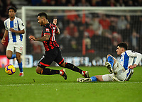 Bournemouth's Joshua King (left) is fouled by Brighton & Hove Albion's Davy Propper (right)<br /> <br /> Photographer David Horton/CameraSport<br /> <br /> The Premier League - Bournemouth v Brighton and Hove Albion - Saturday 22nd December 2018 - Vitality Stadium - Bournemouth<br /> <br /> World Copyright © 2018 CameraSport. All rights reserved. 43 Linden Ave. Countesthorpe. Leicester. England. LE8 5PG - Tel: +44 (0) 116 277 4147 - admin@camerasport.com - www.camerasport.com