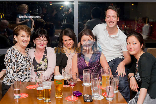 Edgewater College friends have a night out in Bru..Picture: Shane Maguire / www.newsfile.ie.