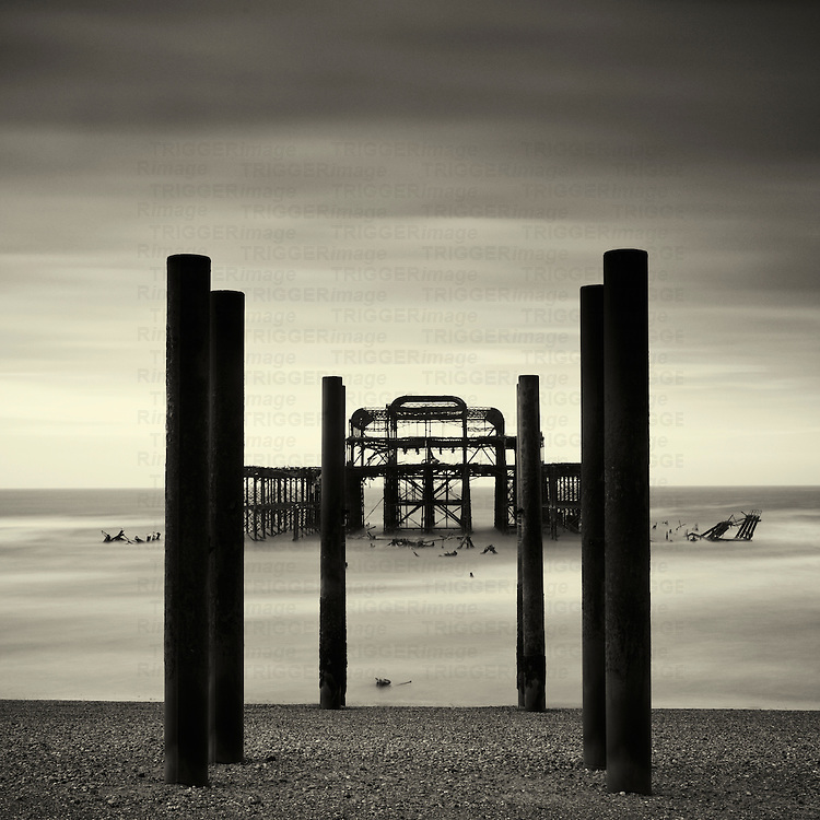 West pier, Brighton, West Sussex, England
