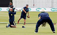 Matt Walker takes a training session during day 2 of the Specsavers County Championship Div 2 game between Kent and Sussex at the St Lawrence Ground, Canterbury, on May 12, 2018