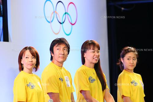 (L-R) Masako Chiba, Nobuharu Asahara, Yoriko Okamoto, ,Kotono Tanaka (JPN), SEPTEMBER 8, 2013 : Public Viewing of the bid to host the 2020 Summer Olympic Games at Komazawa Gymnasium, Tokyo Japan on Sunday September 8, 2013. (Photo by AFLO SPORT) [1156]