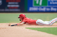 Philadelphia Phillies Bryson Stott (10) slides into second base during an Instructional League game against the Toronto Blue Jays on September 17, 2019 at Spectrum Field in Clearwater, Florida.  (Mike Janes/Four Seam Images)