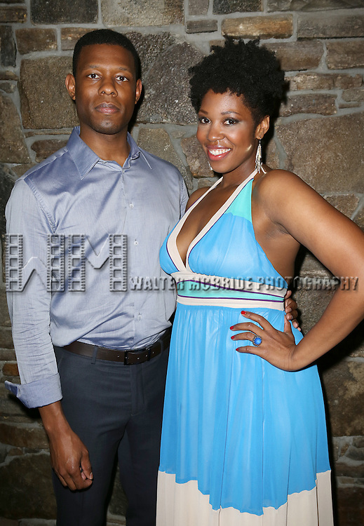 Korey Jackson, Marinda Anderson attending the Opening After Party for the Playwrights Horizons World Premiere production of the new musical 'FAR FROM HEAVEN' at Tir Na Nog Irish Pub & Grill  in New York City on June 02, 2013.