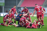 Taylor Davies of Scarlets in action during the Guinness Pro14 Round 11 match between the Scarlets and Edinburgh Rugby at the Parc Y Scarlets in Llanelli, Wales, UK. Saturday 15 February 2020