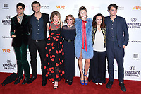 Thomas Cohen, Wilf Scolding, Alice Eve, Josephine De La Baume, Hermione Corfield and director, Jack Eve<br /> arriving for the World premiere of &quot;Bees Make Honey&quot; at the Vue West End, Leicester Square, London<br /> <br /> <br /> &copy;Ash Knotek  D3314  23/09/2017