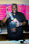 """ABRAHAM MCDONALD. The Island Def Jam artist launches """"The Miracle Shake"""" at Millions of Milkshakes. West Hollywood, CA, USA. April 24, 2010."""