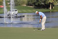 Edoardo Molinari (ITA) on the 18th green during Sunday's Final Round of the 2012 Omega Dubai Desert Classic at Emirates Golf Club Majlis Course, Dubai, United Arab Emirates, 12th February 2012(Photo Eoin Clarke/www.golffile.ie)