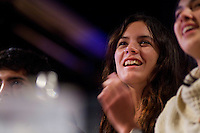 La leader del movimento studentesco Cileno Camila Vallejo durante il suo incontro al Caffè Letterario a Roma..Chile's student movement leader, Camila Vallejo during a meeting in Rome to talk about the protest against the Student Education Reform in Chile.
