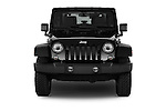 Car photography straight front view of a 2017 JEEP Wrangler Rubicon 5 Door SUV Front View