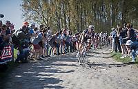 Bert de Backer (BEL/Sunweb)<br /> <br /> 115th Paris-Roubaix 2017 (1.UWT)<br /> One Day Race: Compi&egrave;gne &rsaquo; Roubaix (257km)