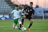 Republic of Ireland's Darragh Leahy and Erick Aquirre of Mexico challenge for the ball during Republic Of Ireland Under-21 vs Mexico Under-21, Tournoi Maurice Revello Football at Stade Parsemain on 6th June 2019