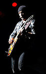 PASADENA, CA. - October 25: Guitarist The Edge of U2  performs in concert during their 360º Tour at the Rose Bowl on October 25, 2009 in Pasadena, California.