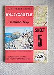 Discoverer series 1:50,000 ordnance survey map of Ballycastle, Northern Ireland sheet 5