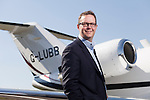 01/05/2013 Phil Brockwell, CEO of Bristol Flying Centre, with one of his company's Citation 525 jets.