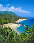 Kauai, HI               <br /> The secluded Lumahai Beach with its long white sands beach stretches along the north shores of Kauai