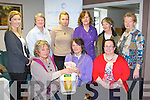PRESENTATION: Barbara Mutschler with massage therapists from around Kerry presenting Sue Dunne chairperson of Kerry Autism Action with over €600 with money raise by Massage Therapists as part of the Health Awareness week for Volunteers and Careers at the Kerry Volunteer Centre, Tralee on Friday seated l-r: Barbara Mutschler (Massage Clinic, Catherdaniel), Sue Dunne (chairperson of Kerry Autism Action) and Hannah Lane (Kerry Volunteer Centre). Back l-r: Linda McCarthy (Kerry Volunteer Centre), Anne O'Donnell (Coisceim), Beata Sobczynaske (Beata's massage therapy, Killorglin), Margaret Doyle (Acorn Holistics), Mary Moloney (IMTA) and Nan O'Sullivan (IMTA).