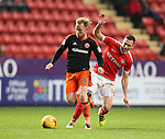 Charlton's Andrews Crofts tussles with Sheffield United's Mark Duffy during the League One match at the Valley Stadium, London. Picture date: November 26th, 2016. Pic David Klein/Sportimage