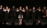 Michael Xavier, Emily Skinner, Chuck Cooper, Karen Ziemba, Tony Yazbeck, Brandon Uranowitz, Bryonha Marie Parham, and Janet Dacal during the Broadway Opening Night performance Curtain Call for 'The Prince of Broadway' at the Samuel J. Friedman Theatre on August 24, 2017 in New York City.