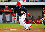 9 March 2009: Washington Nationals' outfielder Wily Mo Pena at bat during a Spring Training game against the Houston Astros at Space Coast Stadium in Viera, Florida. The Nationals defeated the Astros 8-6 in extra innings of the Grapefruit League matchup. Mandatory Photo Credit: Ed Wolfstein Photo