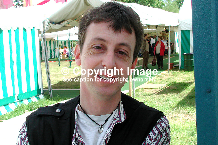 Nick Treharne, photographer, Western Mail, Cardiff, Wales, UK. .Taken during Hay Book Festival. Ref: 2000050454..Copyright Image from Victor Patterson, 54 Dorchester Park, Belfast, UK, BT9 6RJ..Tel: +44 28 9066 1296.Mob: +44 7802 353836.Voicemail +44 20 8816 7153.Skype: victorpattersonbelfast.Email: victorpatterson@mac.com.Email: victorpatterson@ireland.com (back-up)..IMPORTANT: If you wish to use this image or any other of my images please go to www.victorpatterson.com and click on the Terms & Conditions. Then contact me by email or phone with the reference number(s) of the image(s) concerned.