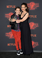 Winona Ryder &amp; Noah Schnapp at the premiere for Netflix's &quot;Stranger Things 2&quot; at the Westwood Village Theatre. Los Angeles, USA 26 October  2017<br /> Picture: Paul Smith/Featureflash/SilverHub 0208 004 5359 sales@silverhubmedia.com