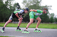 INLINE-SKATEN: STEENWIJK: Gagelsweg (start/finish), Schansweg, Meppelerweg, KPN Inline Cup, Klim van Steenwijk, 02-05-2012, Felix Rijhnen (#528), Crispijn Ariens (#5), ©foto Martin de Jong