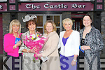BEST DRESSED: On Thursday evening the best dressed lady was chosen in the Castle bar, Rock Street, Tralee and presenting the winners with their prizes weas Laurna O'Sullivan (Castle Bar), L-r: Mary Doyle (3rd), Helen Power (ist), Laurna O'Sullivan, Eileen Cooper (2nd) and Alexs Buhl.