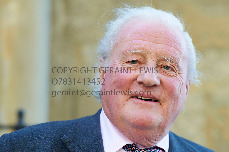 John Julius Norwich,writer and historian at The Oxford Literary Festival 2011 in Christchurch,  Oxford UK. CREDIT Geraint Lewis