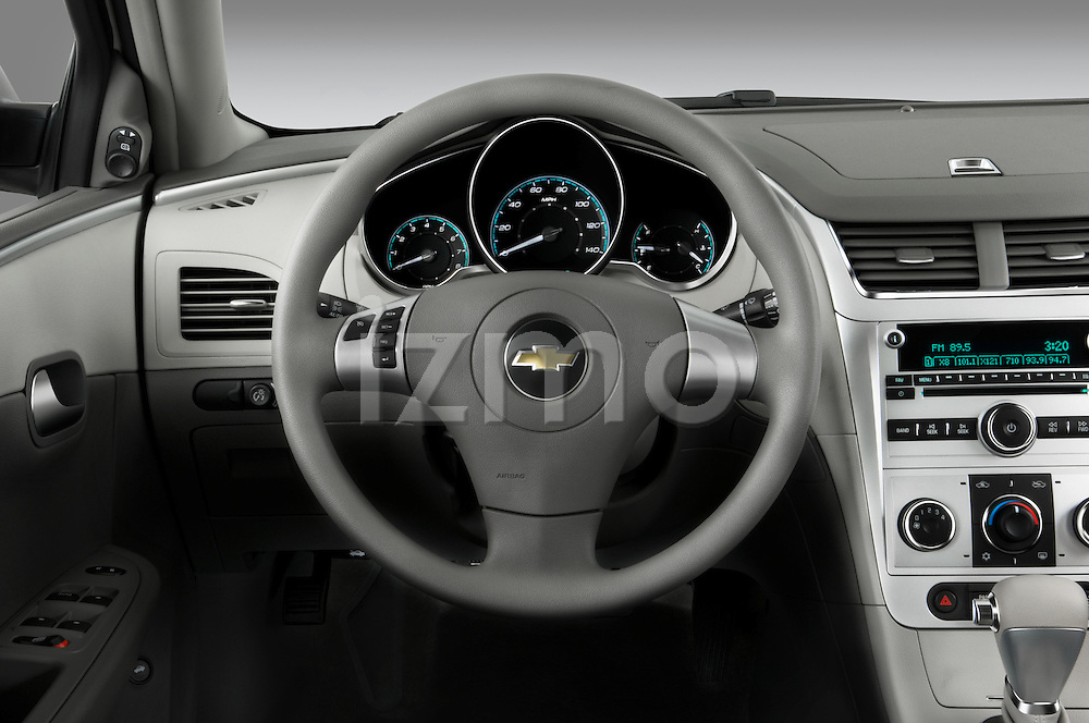 Steering wheel view of a 2008 Chevrolet Malibu Sedan