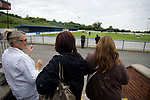 England 1 Gibraltar 0, 20/05/2008. Llanelian Road, Old Colwyn, Four Nations Semi-Professional Tournament. Spectators watching the pre-match warm up prior to England's game against Gibraltar in the Four Nations Semi-Professional tournament at Colwyn Bay in a game won 1-0 by the English. The tournament was established in 2002 and was held on an annual basis featuring teams from England, Scotland and Wales and an invited team, on this occasion Gibraltar. The tournament is hosted on a rotational basis and in 2008 games were staged at Colwyn Bay FC, Rhyl FC and The New Saints ground in Oswestry. Photo by Colin McPherson.