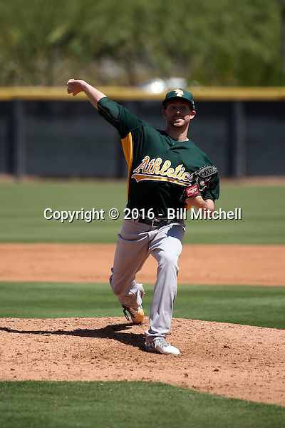 Tanner Peters - Oakland Athletics 2016 extended spring training (Bill Mitchell)