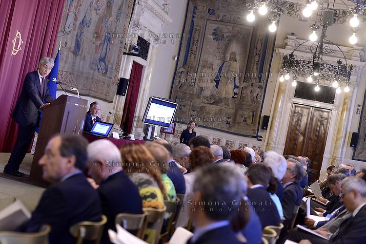Roma, 8 Luglio 2015.<br /> Tito Boeri e Giuliano Poletti.<br /> Camera dei Deputati. <br /> Relazione annuale INPS.
