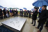 ALGEMEEN: DIJKEN/TEROELE: 21-03-2014, Onthulling plaquette belevingsplek, ©foto Martin de Jong